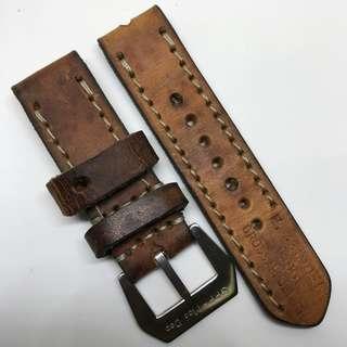 Black Friday Biggest Sale: Authentic 24mm 100% Handmade Unworn Swiss Ammo Leather Watch Strap Stamped Year 1986