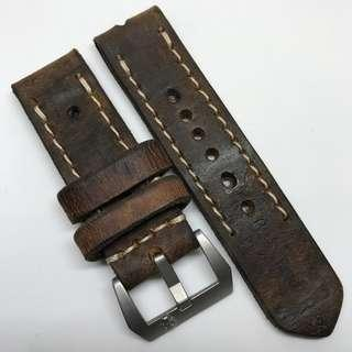 Black Friday Biggest Sale: Authentic 24mm 100% Handmade Unworn Swiss Ammo Leather Watch Strap Stamped Year 63