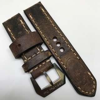Black Friday Biggest Sale: Authentic 24mm 100% Handmade Unworn Swiss Ammo Leather Watch Strap Stamped Year 57