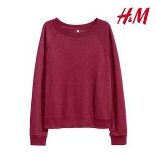 sweater h&m hnm maroon original