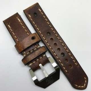 Black Friday Biggest Sale: Authentic 24mm 100% Handmade Unworn Swiss Ammo Leather Watch Strap Stamped Year 1966
