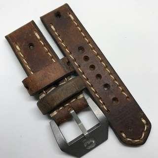 Black Friday Biggest Sale: Authentic 24mm 100% Handmade Unworn Swiss Ammo Leather Watch Strap Stamped Year 84