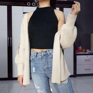 Knit crop tee (STILL NEW)