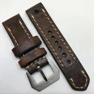 Black Friday Biggest Sale: Authentic 24mm 100% Handmade Unworn Swiss Ammo Leather Watch Strap Stamped Year 76