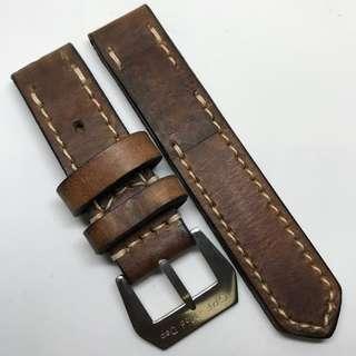 Black Friday Biggest Sale: Authentic 24mm 100% Handmade Unworn Swiss Ammo Leather Watch Strap Stamped Year 85