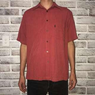 Red vintage button up