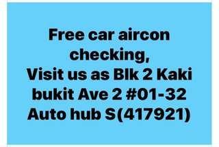 Free Air con checking. Visit us #01-32 Autohub Kaki Bukit (417921)
