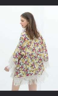 Zara Fringe Kimono