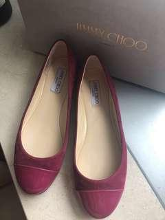 Jimmy Choo light burgundy flat shoes 平底鞋