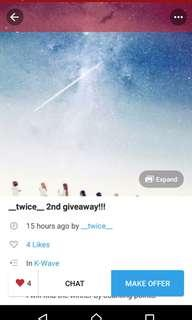 Twice giveaway repost!