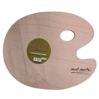 MONT MARTE OVAL WOOD TRADITIONAL PALETTE 30x38cm