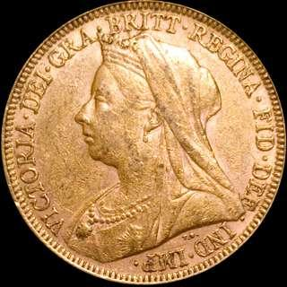 1896 Gold Sovereign - Victoria Old Head