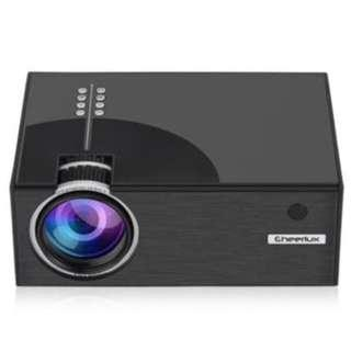 Cheerlux C7 Mini LED 1500 Lumens Projector Proyektor TV Tuner NO wifi
