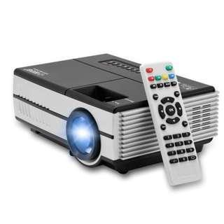 Mini Projector Proyektor EUG 600D D600 1080P TV Tunner 1500 Lumens