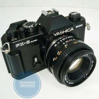 Authentic Vintage YASHICA KYOCERA FX-3 SUPER 2000 SLR Camera Made in Japan