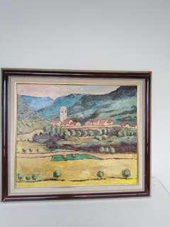 Oil Painting Europe scenery