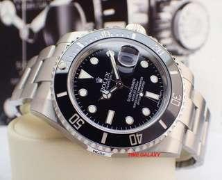 Brand New ROLEX Submariner Date Black Ceramic 40mm Stainless Steel Automatic watch. Model 116610LN. 🔥Hard to get model🔥