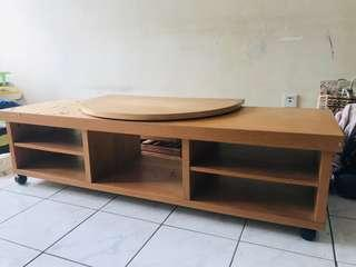Pre-Loved IKEA Wooden TV Table (free IKEA TV stand rotator)