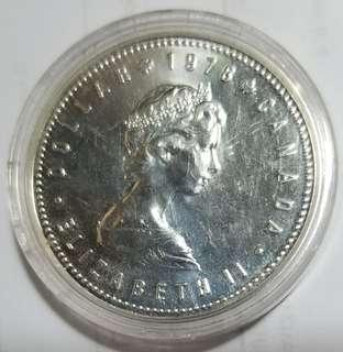CANADIAN ANTIQUE 1978 SILVER COIN