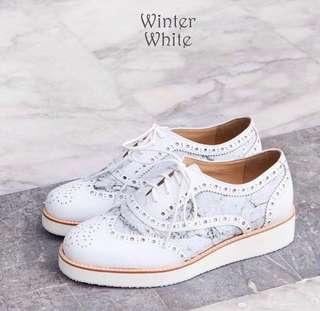 Winter White Shoes 38