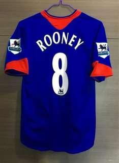 曼聯 朗尼 0506 作客 波衫 球衣 manchester united away kit jersey