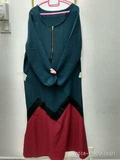 Dress jubah zigzag
