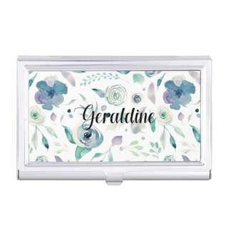 Customised Name Cards Cardholder Silver Metal Personalised Name Christmas Gifts