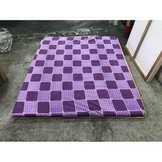 東鼎二手家具 全新品 標準雙人椰子墊5X6.2尺(紫)*薄床墊*全新床墊*冬夏兩用