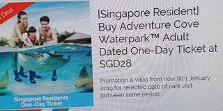 2 Adventure Cove Adult ticket