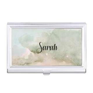 Customised Cardholder Silver Metal Personalised Name Christmas Gifts Exchange Custom Design Logo