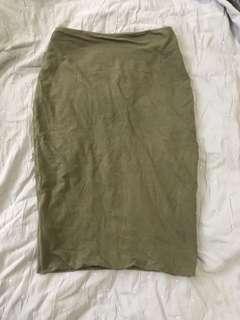 Tight navy green skirt