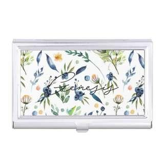 Floral Cardholder Customised Design Personalised Name Christmas Gift Birthday Wedding Bridesmaid