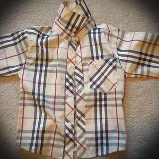 Burberry Look Alike Boys Shirt For 3 To 4 Year Olds