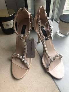 Australia forever new pearl sandals high heels shoes