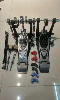 Pearl double pedal with case