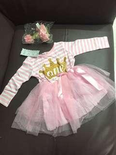 Brandnew 1st bday outfit set