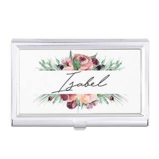 Customised Floral Cardholder Card Case Personalised Name Christmas Gifts Birthday Wedding Bridesmaid