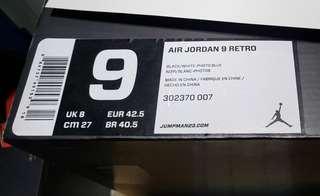 Air Jordan 9 Men's Photo Blue