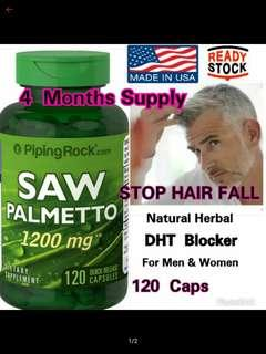 Herbal DHT Blocker Saw Palmetto (120 Quick Release Caps)