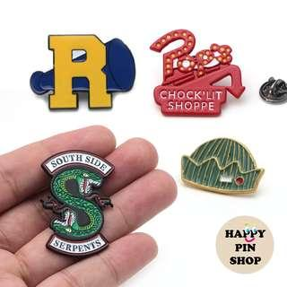 🚚 [AVAIL @ Cine] Riverdale icons enamel pins - American teen drama TV series based on Archie Comics