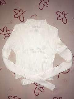 White Turtleneck Long Sleeves