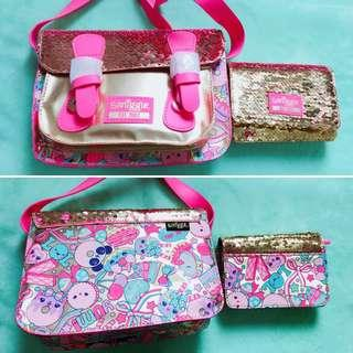 💖Sale!!!💖 Authentic Smiggle 15th Bday Satchel & Purse Combo