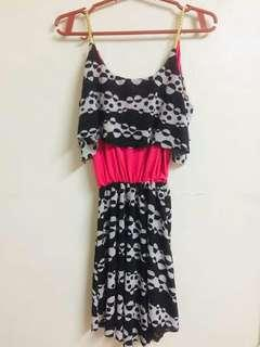Pink and Black Stretchable Dress