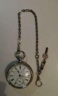 Marks Levi Silver pocket watch c1897 古董懷錶