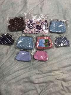 Poka dots clipper coin purse