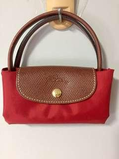 Longchamp Foldable Red Handbag
