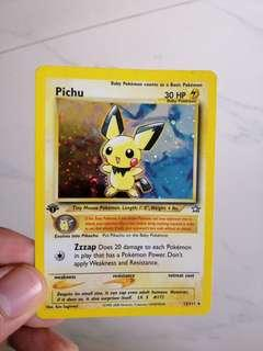 Pokemon Card - Pichu rare card