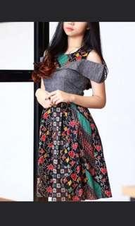 Sabrina batik dress