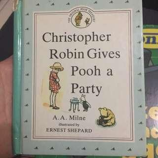 Christopher Robins Gives Pooh a Party