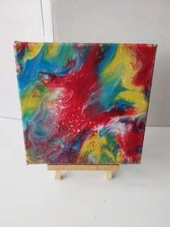Canvas Painting - Resin Pour Abstract